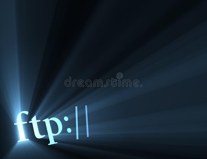 Hyper de link van FTP lichte gloed vector illustratie