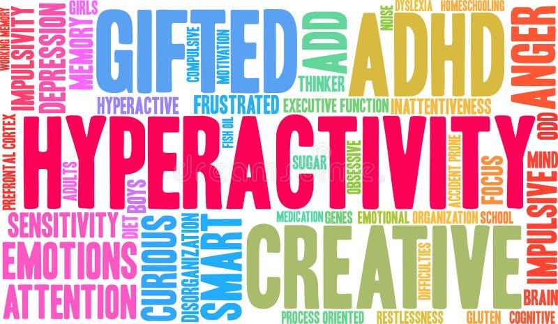 Hyperactivity Word Cloud stock illustration