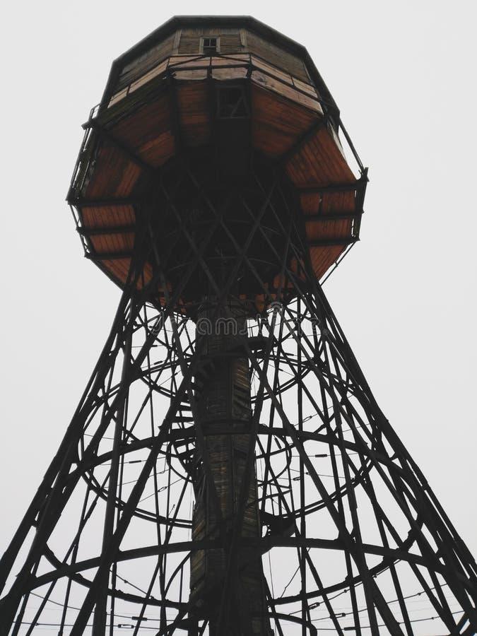 Hyperboloid vattentorn som byggs i 1927 Teknikern Shukhov V G Borisov Vitryssland arkivfoton