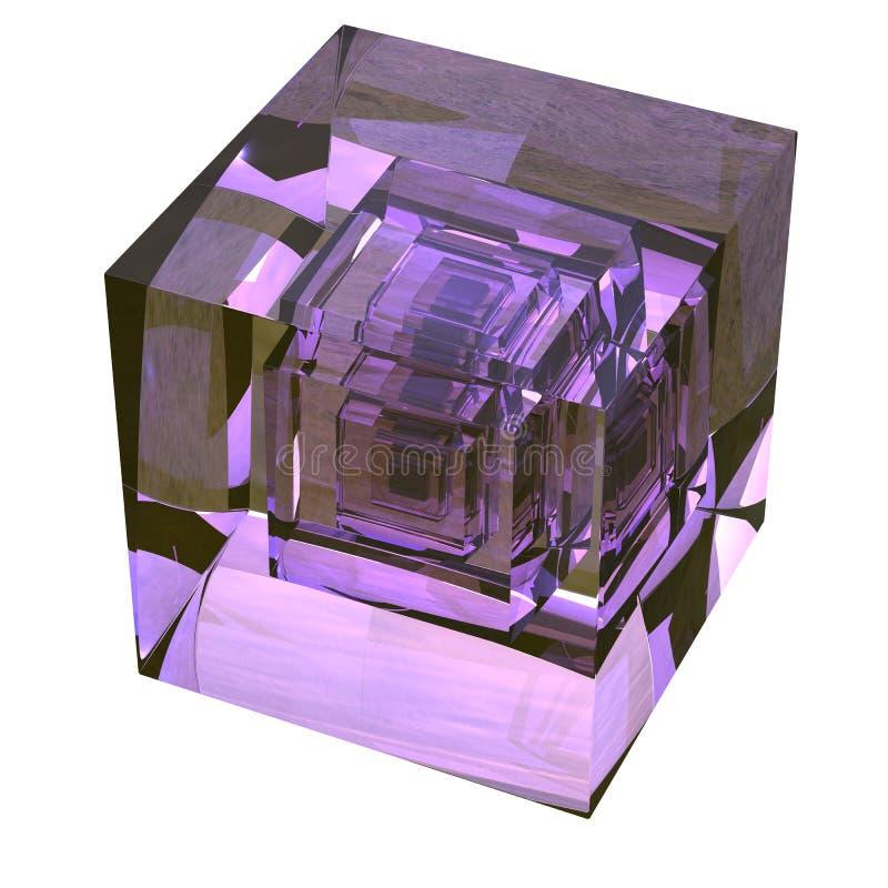 Hypercube 3d royalty ilustracja