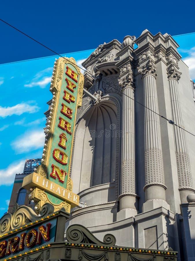 Hyperion znak na Hollywood buduje studiach w Disney Kalifornia przygody parku obrazy stock