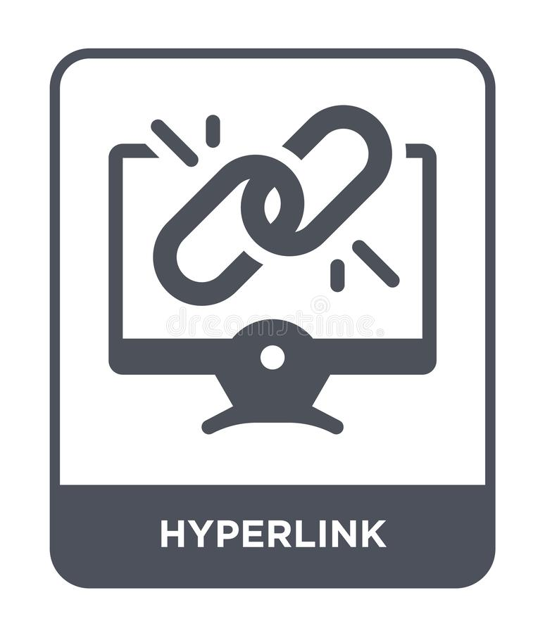 Hyperlink icon in trendy design style. hyperlink icon isolated on white background. hyperlink vector icon simple and modern flat. Symbol for web site, mobile stock illustration