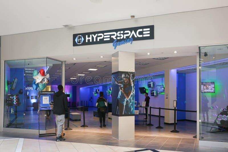 Hyperspace игра на торговом центре моста Quaker стоковое изображение