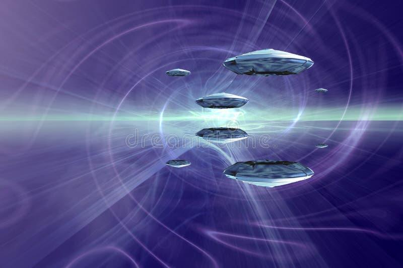 hyperspace ilustración del vector
