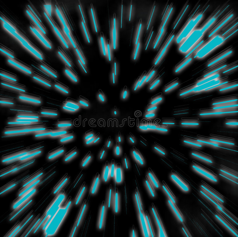 Hyperspace Zoom Blur stock illustration