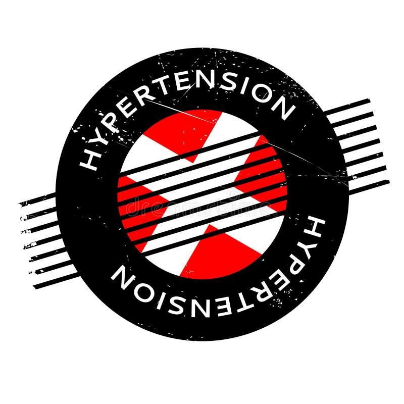 Hypertensie rubberzegel vector illustratie