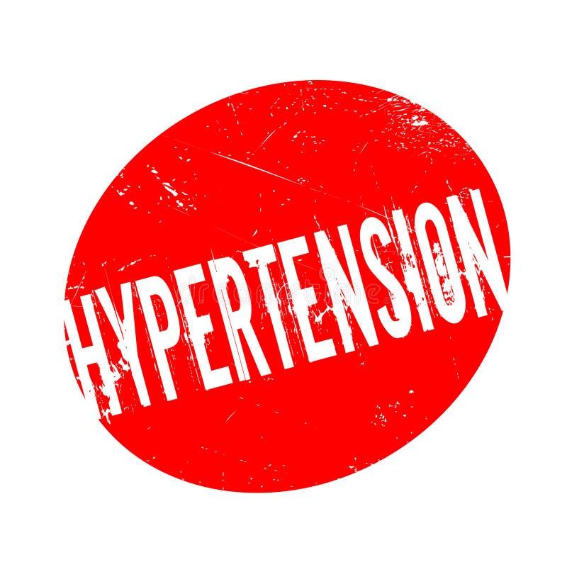 Hypertensie rubberzegel royalty-vrije illustratie