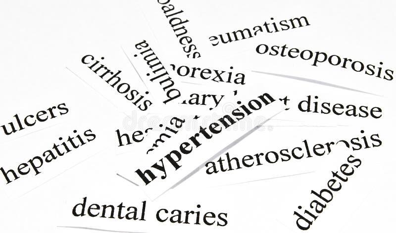 Hypertension. Concept de soins de santé des maladies provoquées par la nutrition malsaine photographie stock