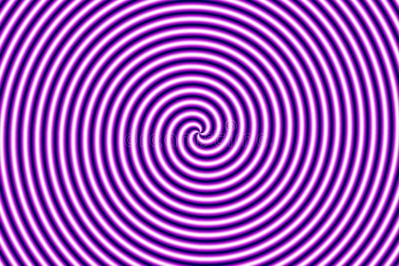 hypno幻觉光学紫色 库存例证