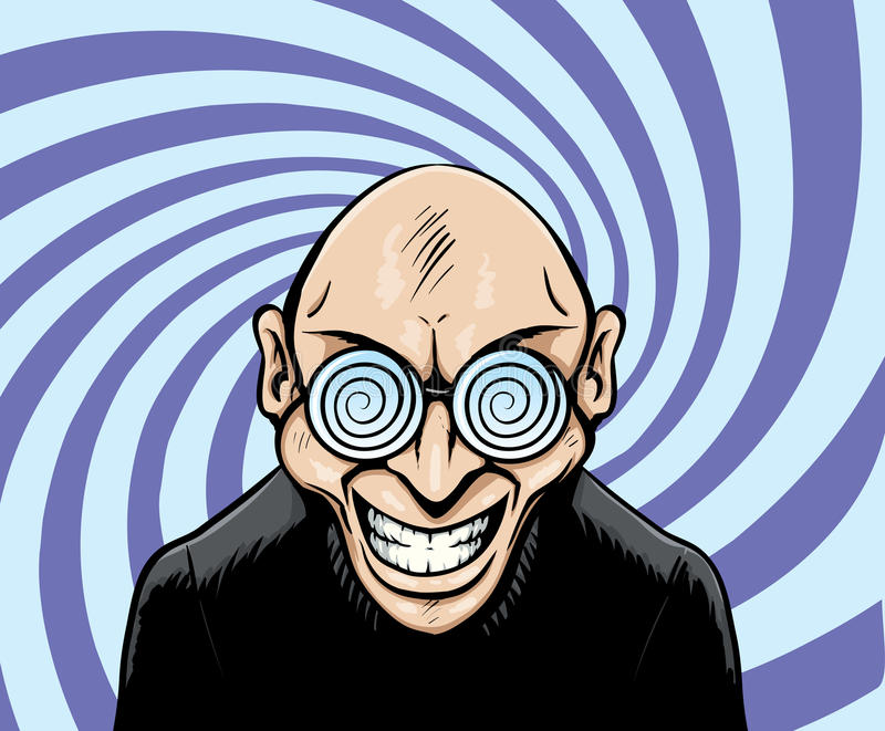 Hypno Googles Man Royalty Free Stock Image
