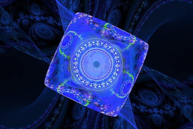 Hypnose magique de musique rêvant le fond hypnotique rêveur de fractale d'abrégé sur papier peint illustration de vecteur