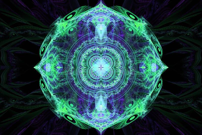 Hypnose magique de musique rêvant le fond hypnotique rêveur de fractale d'abrégé sur papier peint illustration libre de droits