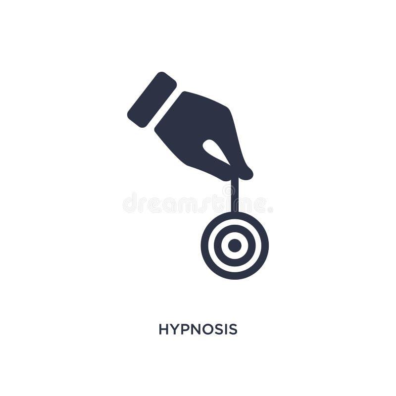 hypnosepictogram op witte achtergrond Eenvoudige elementenillustratie van magisch concept stock illustratie