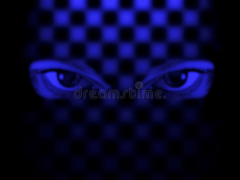 Hypnosis. Eyes stock illustration