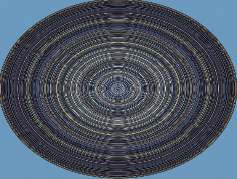 Hypnotic cirkel, muzikale plaat op blauwe achtergrond royalty-vrije stock foto's