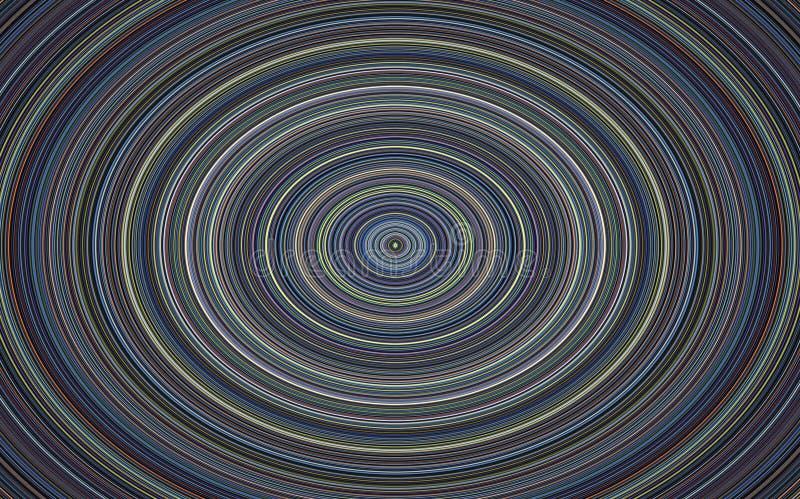 Hypnotic cirkel, muzikale plaat op blauwe achtergrond stock afbeelding
