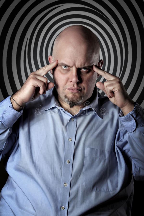 Hypnotic gaze stock images