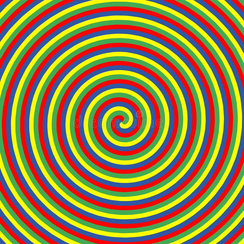 Hypnotic kleurencirkels Inzameling van kleurrijke psychedelische spiraalvormige achtergronden De abstracte wervelingen van de hyp stock illustratie