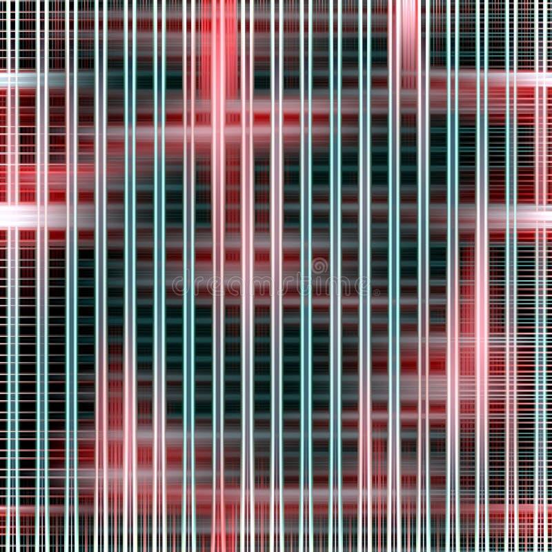 Hypnotic lijnen abstracte achtergrond in donkere tinten royalty-vrije illustratie