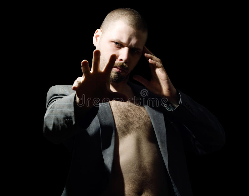 Hypnotic Man Stock Photography