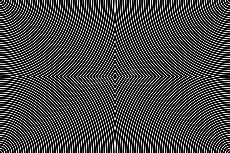 Hypnotic Patroon Kan als prentbriefkaar worden gebruikt royalty-vrije illustratie