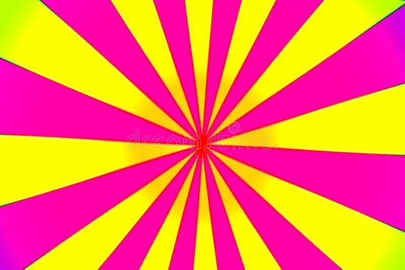 Hypnotic Pin Wheel do rosa e do amarelo ilustração do vetor