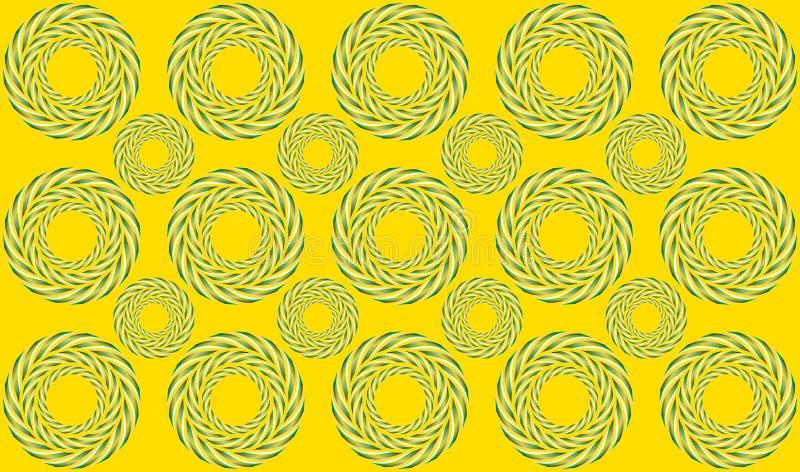 Hypnotic rotation - Optical illusion vector illustration