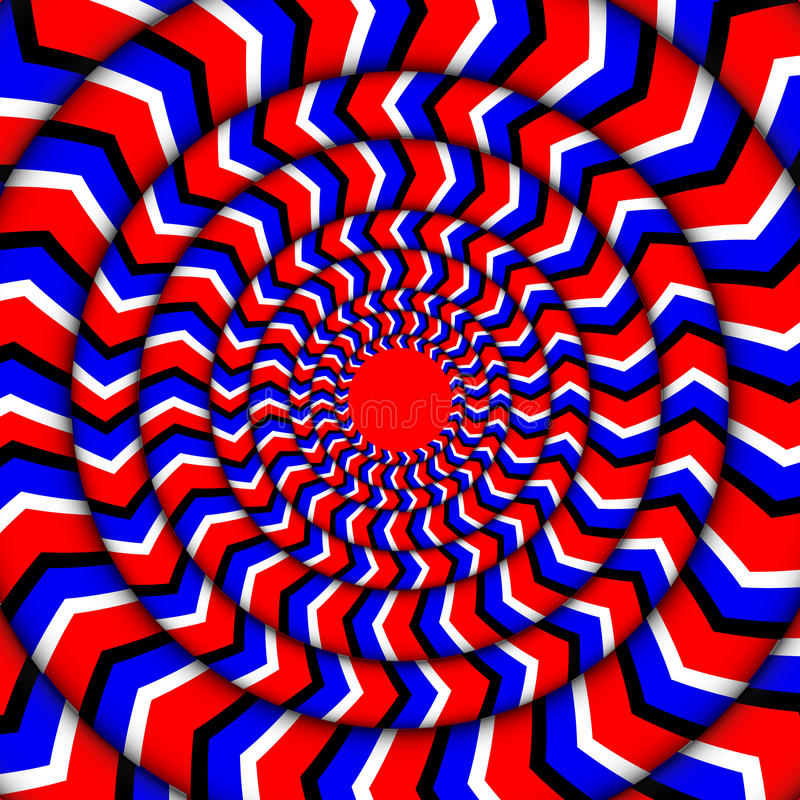 Hypnotic Of Rotation. Perpetual Rotation Illusion. Background With Bright Optical Illusions of Rotation. Optical. Illusion Spin Cycle stock illustration