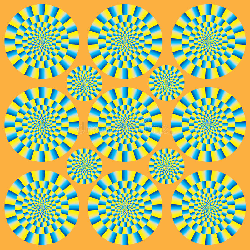Hypnotic show of rotation royalty free illustration
