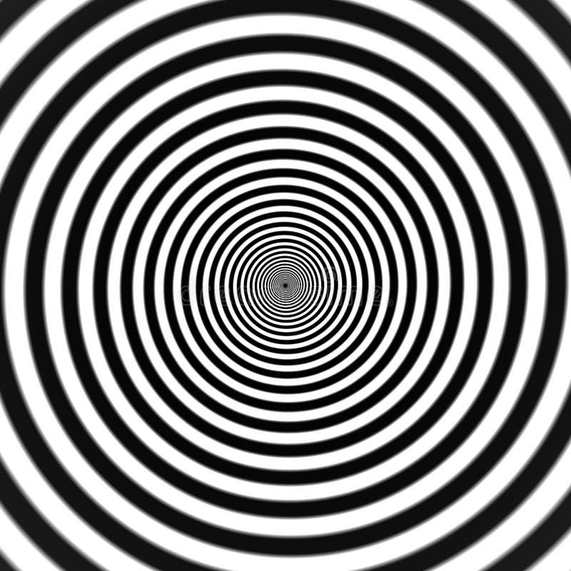 Hypnotic spiraal stock illustratie
