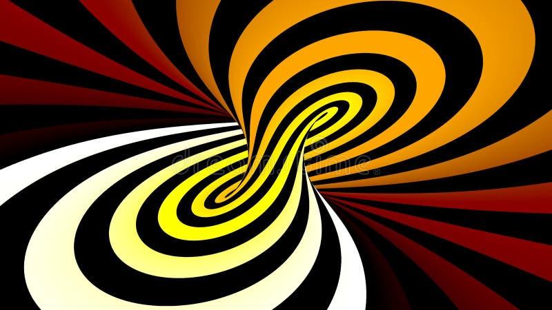 Hypnotic spiraalvormige illusie stock illustratie