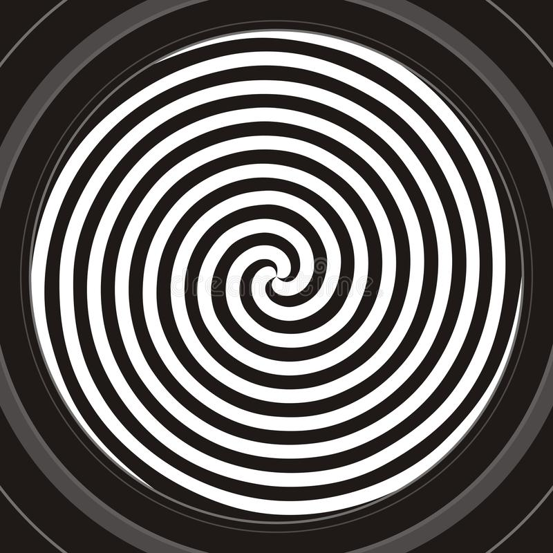 Hypnotic spiral royalty free stock image