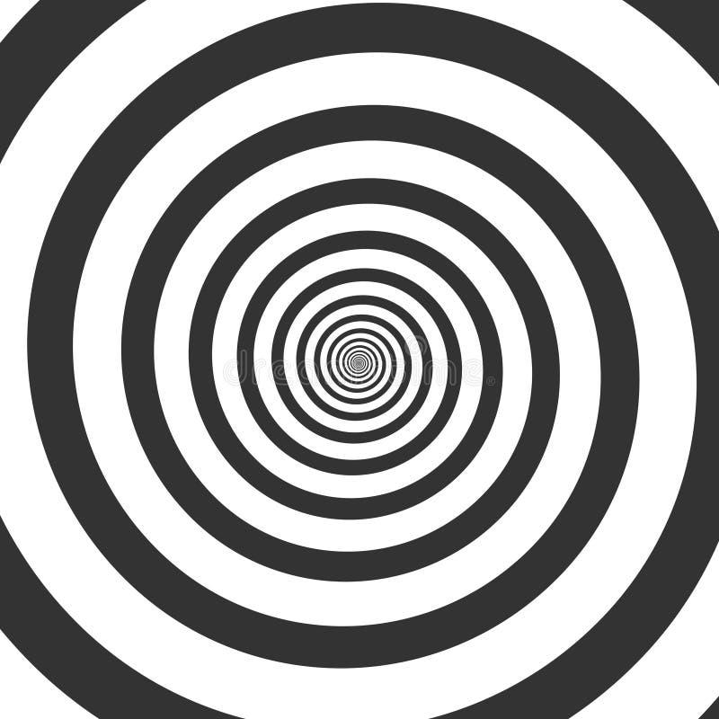 Hypnotic spiral, psychedelic swirl stock illustration