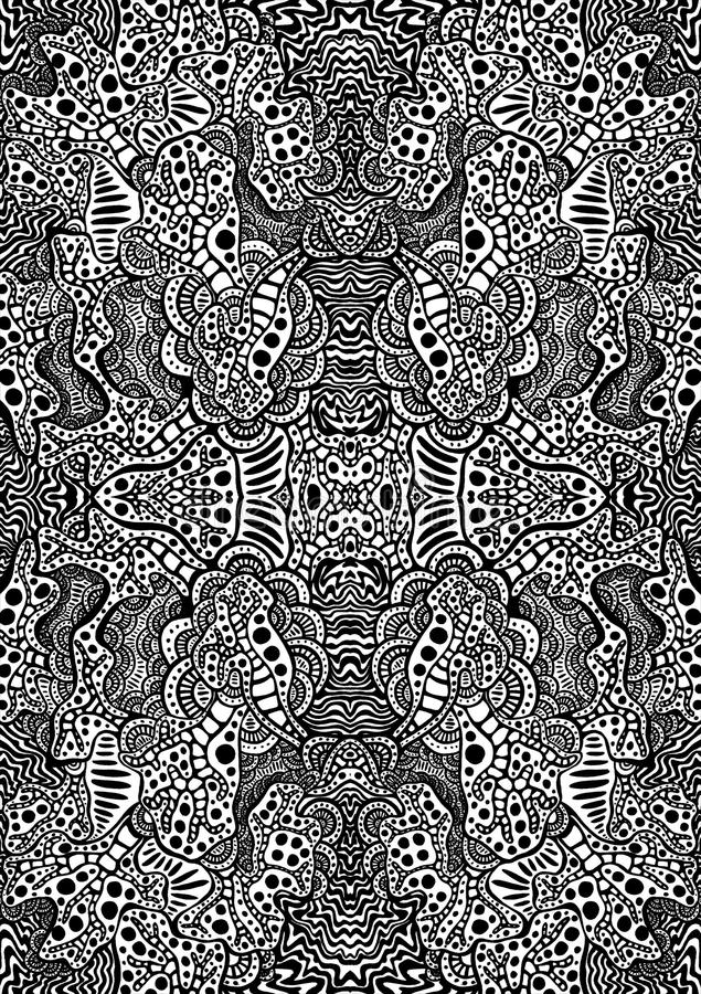 Hypnotic tatoegeringsachtergrond vector illustratie