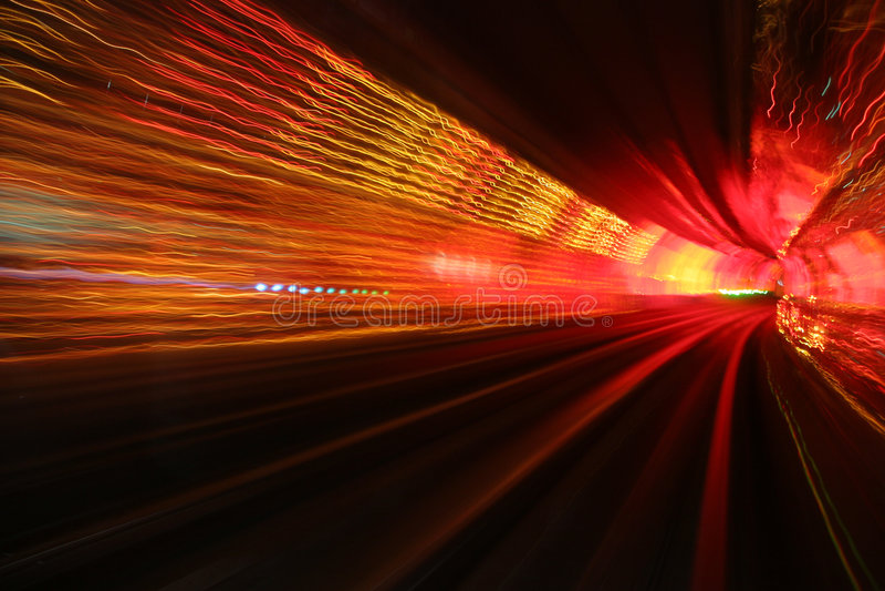 Hypnotic tunnel royalty-vrije stock fotografie