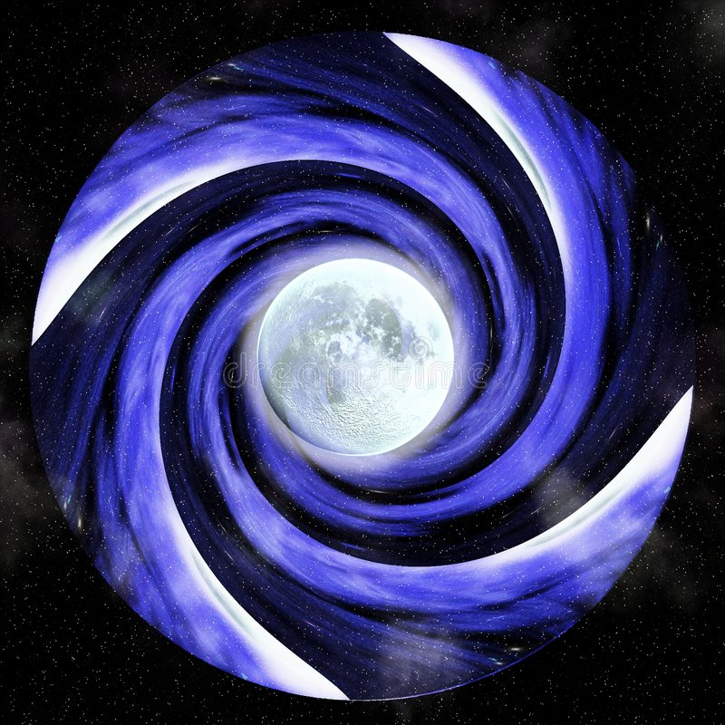 Download Hypnotic Vortex With Full Moon Royalty Free Stock Photos - Image: 82148