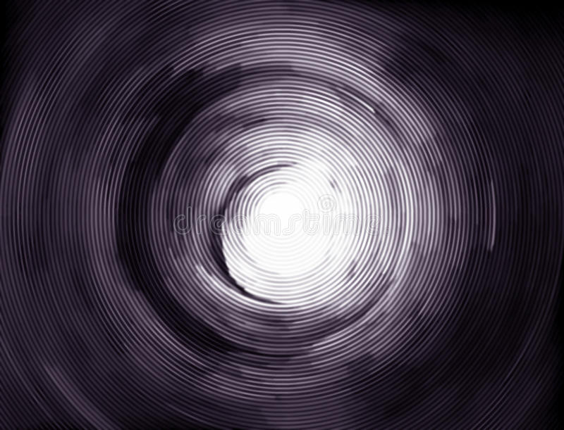 Hypnotic vortex tunnel to the light stock illustration