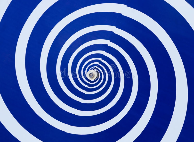 Hypnotic whirlpool. Blue and white hypnotic whirlpool royalty free stock image