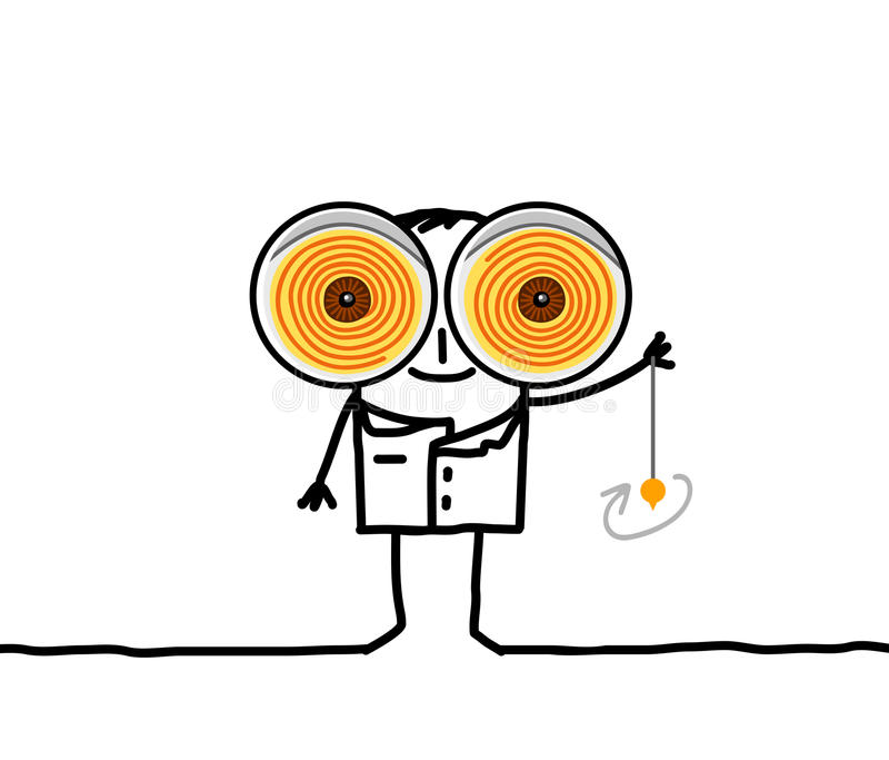 Hypnotisör royaltyfri illustrationer