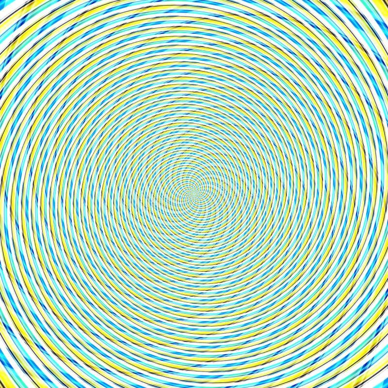 Hypnotische Illustration der abstrakten Hintergrundillusion, Wahnvorstellung attraktiv stock abbildung