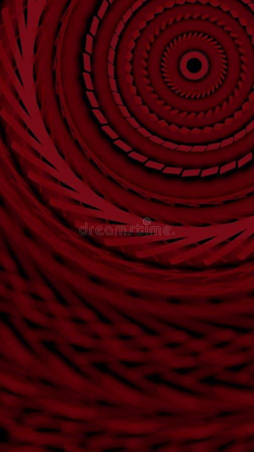 Hypnotische Spirale stock abbildung