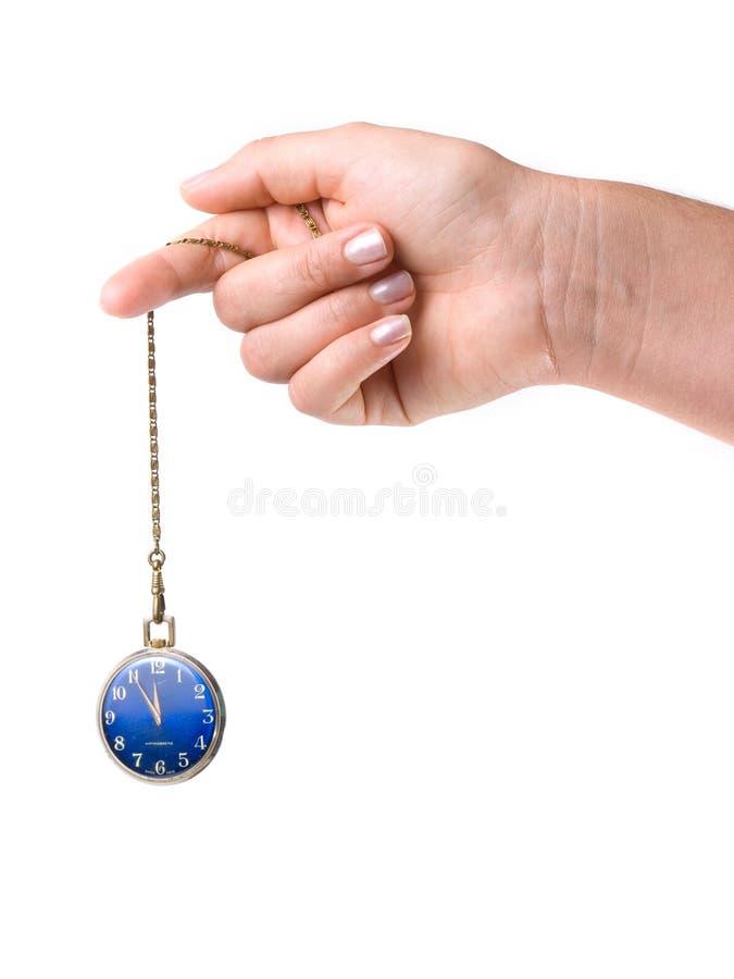 Hypnotische Uhr lizenzfreie stockbilder