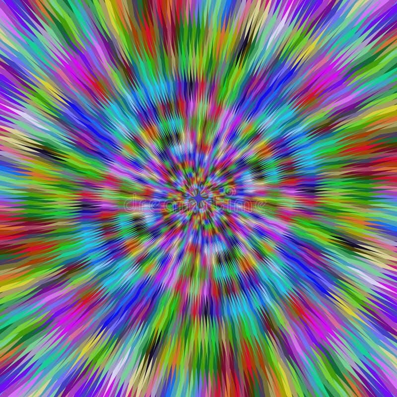 Hypnotische vibrierende Farben lizenzfreie abbildung
