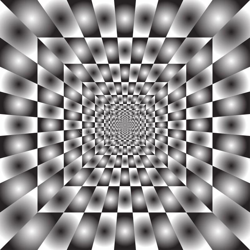 Hypnotischer Strahlhintergrund stock abbildung