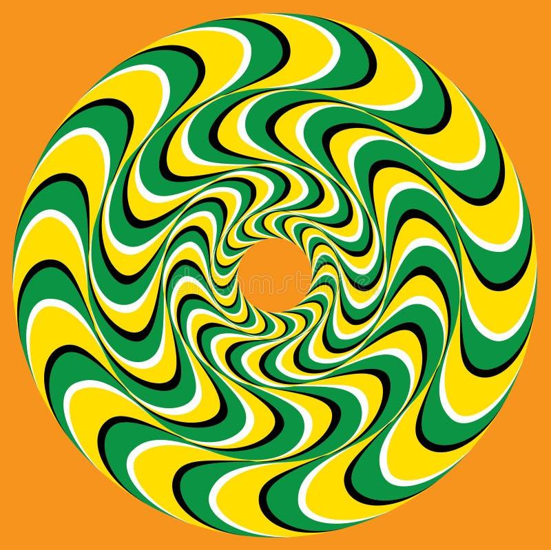 Hypnotischer Swirly-Bereich stock abbildung