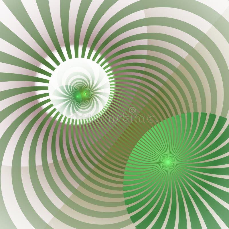Hypnotischer und vibrierender Farbstrahln-Hintergrund Abstrakte gewundene Turbulenz Leuchtender Sonnenstrahlstrudel lizenzfreie abbildung