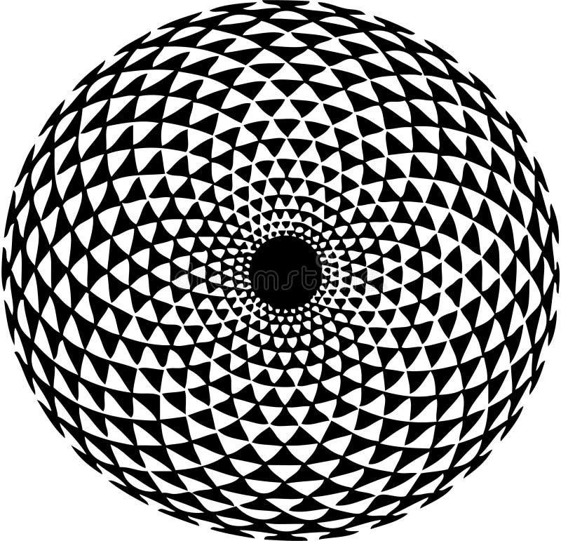 Hypnotisches Muster stock abbildung