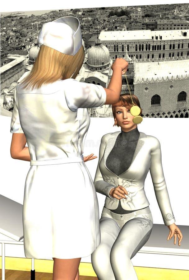 Download Hypnotised Eyes stock illustration. Image of female, illustration - 22547561