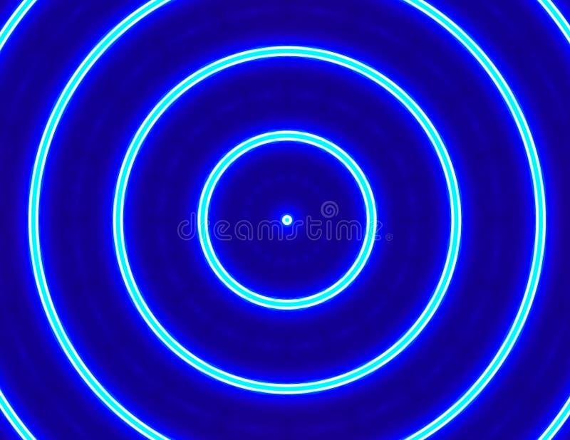 Hypnotiser la conception rougeoyante bleue de cercles illustration de vecteur