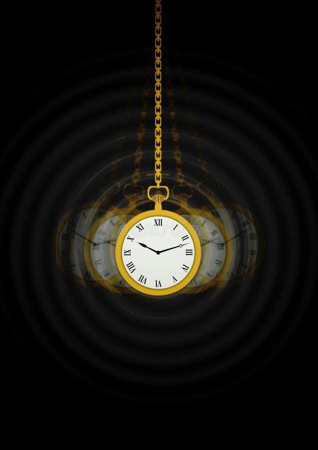 Hypnotists Pocket Watch stock illustration